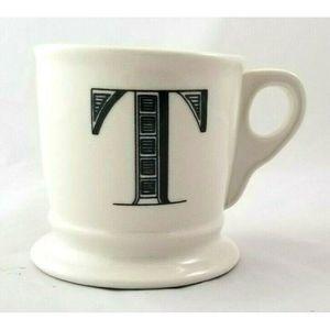 "Anthropologie Monogram ""T""Alphabet Mug"